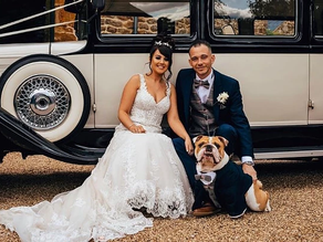 7 Fun ways to include your dog on your wedding day.