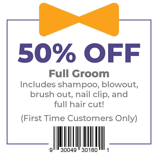 50% Off Grooming (First Time Customers O