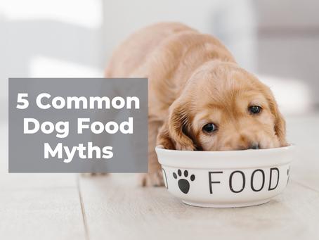 5  Common Dog Food Myths