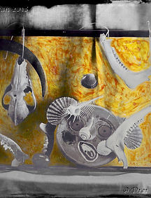 still life and more in wet collodion, painted by hand