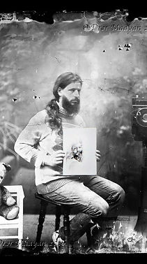 Portraits in wet collodion, painted by hand