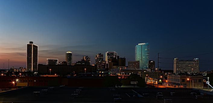 Fort Worth Skyline at Sunset Southside