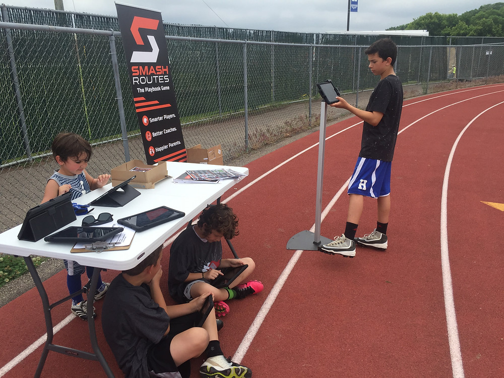 SMASH Routes drill station at youth camp