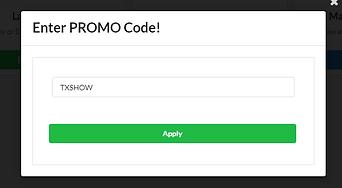 TXSHOW Promo Code screenshot.png
