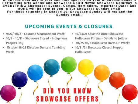 Showcase Saturday - Community News & Events - 9/25/21