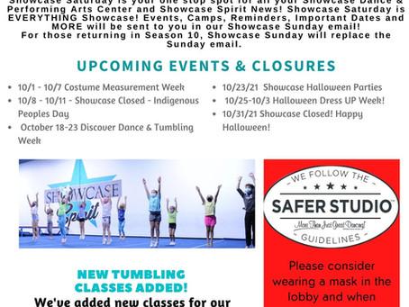 Showcase Saturday - Community News - 10/2/21