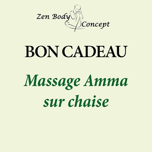 Massage Amma sur chaise