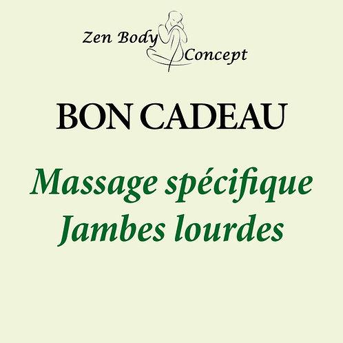 Massage spécial jambes lourdes