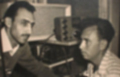 Meir Eshel and Mr. Danny Bain at the Radio Studio