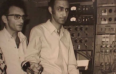 Meir Eshel and his partner Mr. Weisman in one of the very first sessions - 1969
