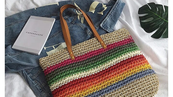 Bolsa de Palha Rainbow