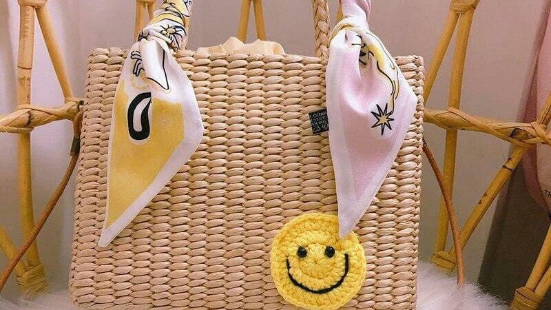 Bolsa de Palha Smile/Love