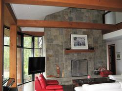 west coast great room fireplace