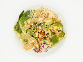Konjac Noodle Bowl with Almond Butter Dressing