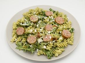 Avocado Basil Pesto Pasta Salad