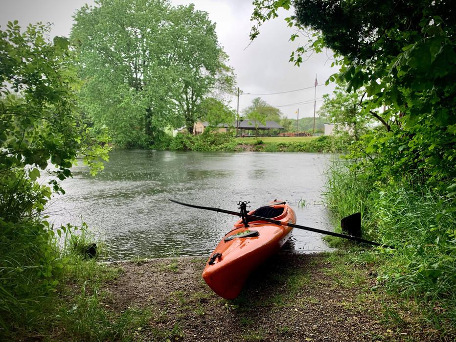 Palmer River in Heavy Rain