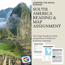 South America Reading & Map Assignment (
