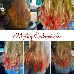mystiqhairextensions_fire ombre highlights