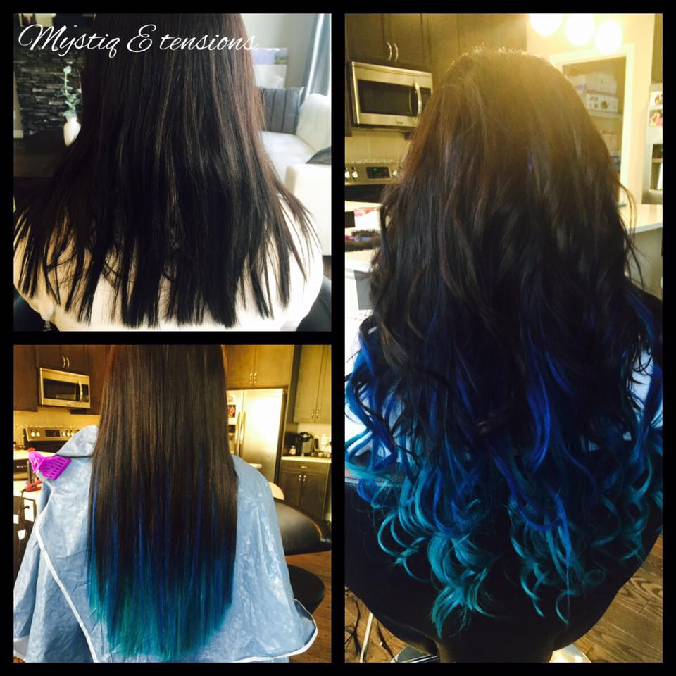 mystiq extensions_airdrie hair extensions_hair extensions calgary_peacock ombre