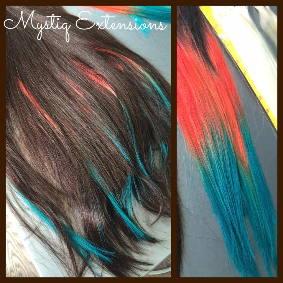 orange teal highlights_mystiq extensions