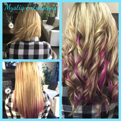 mystiq extensions_airdrie hair extensions_hair extensions calgary (Jb violet and pink)