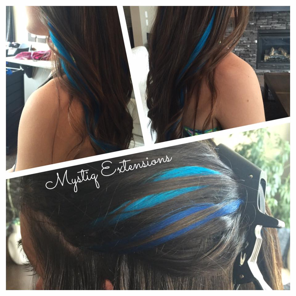mystiqhairextensions_black fusion with highlights