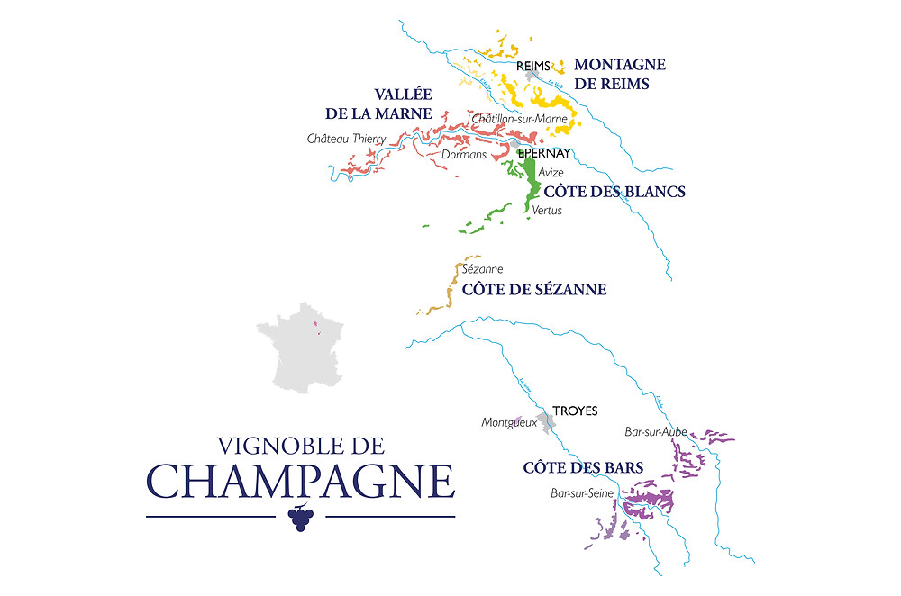 carte du vignoble terroir champagne
