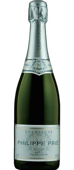 Bouteille-champagne philippe prié brut tradition