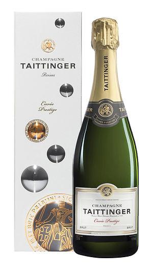 Bouteille champagne Taittinger brut cuvée prestige