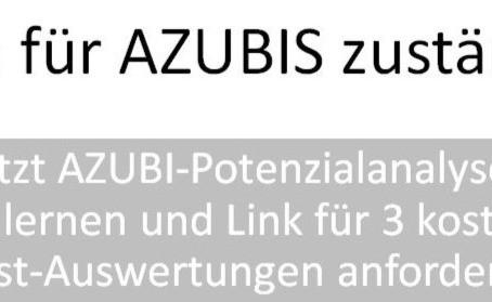 015 - AZUBI Potenzial-Analysen kennenlernen - kostenlos