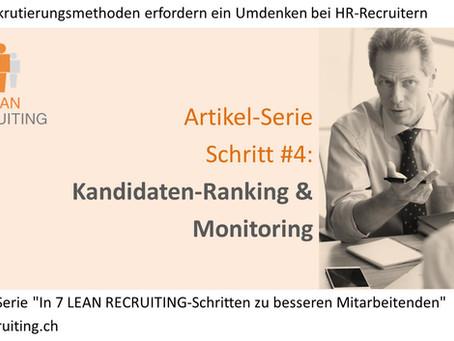 024 - LEAN RECRUITING Artikel-Serie - Schritt #4 - Ranking & Monitoring