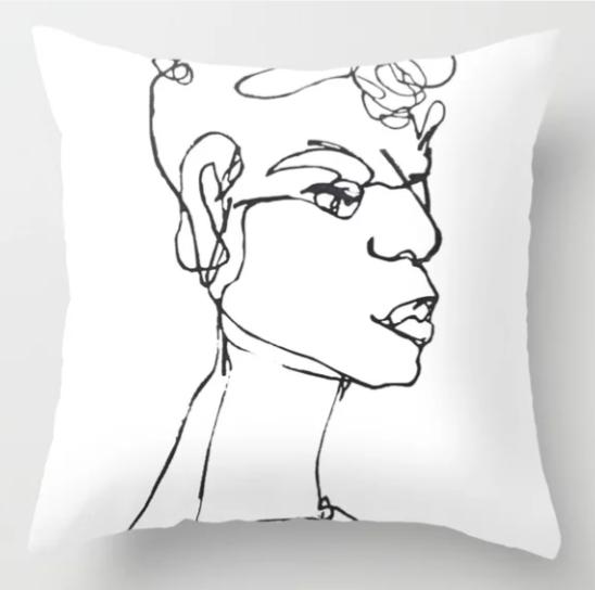 Carrot Top (black) Pillow