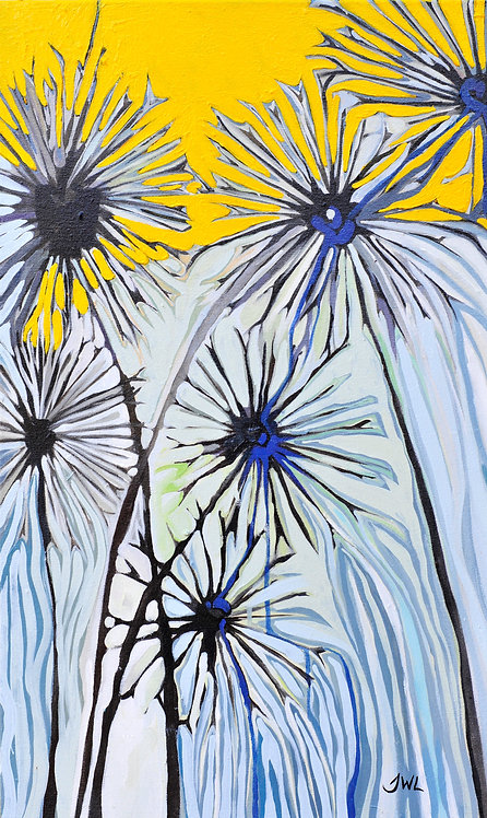 Original Painting | Dandelions & Mustard