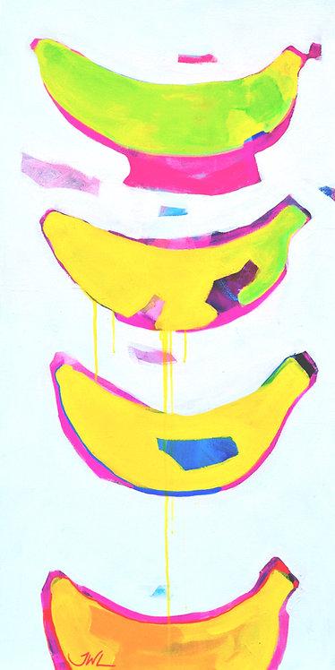 Original Painting | Banana Pool Toy (study)