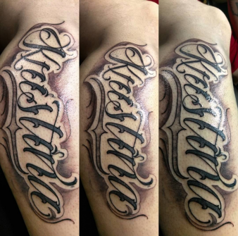 Custom Lettering Tattoo