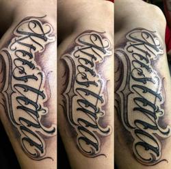 Custom Lettering Tattoo