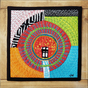 """Running in Circles          8"""" x 8""""           SOLD"""