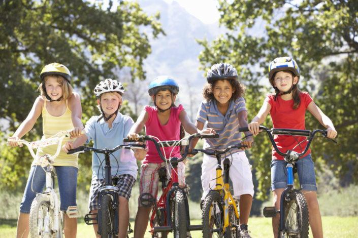 Kids are loving their bike helmets!