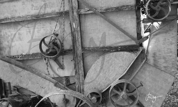 •Antique Thresher Gear Wheels