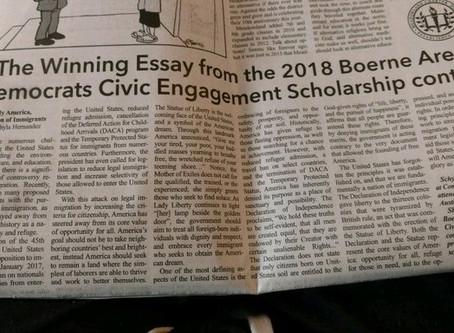 Civic Engagement Essay Scholarship 2018