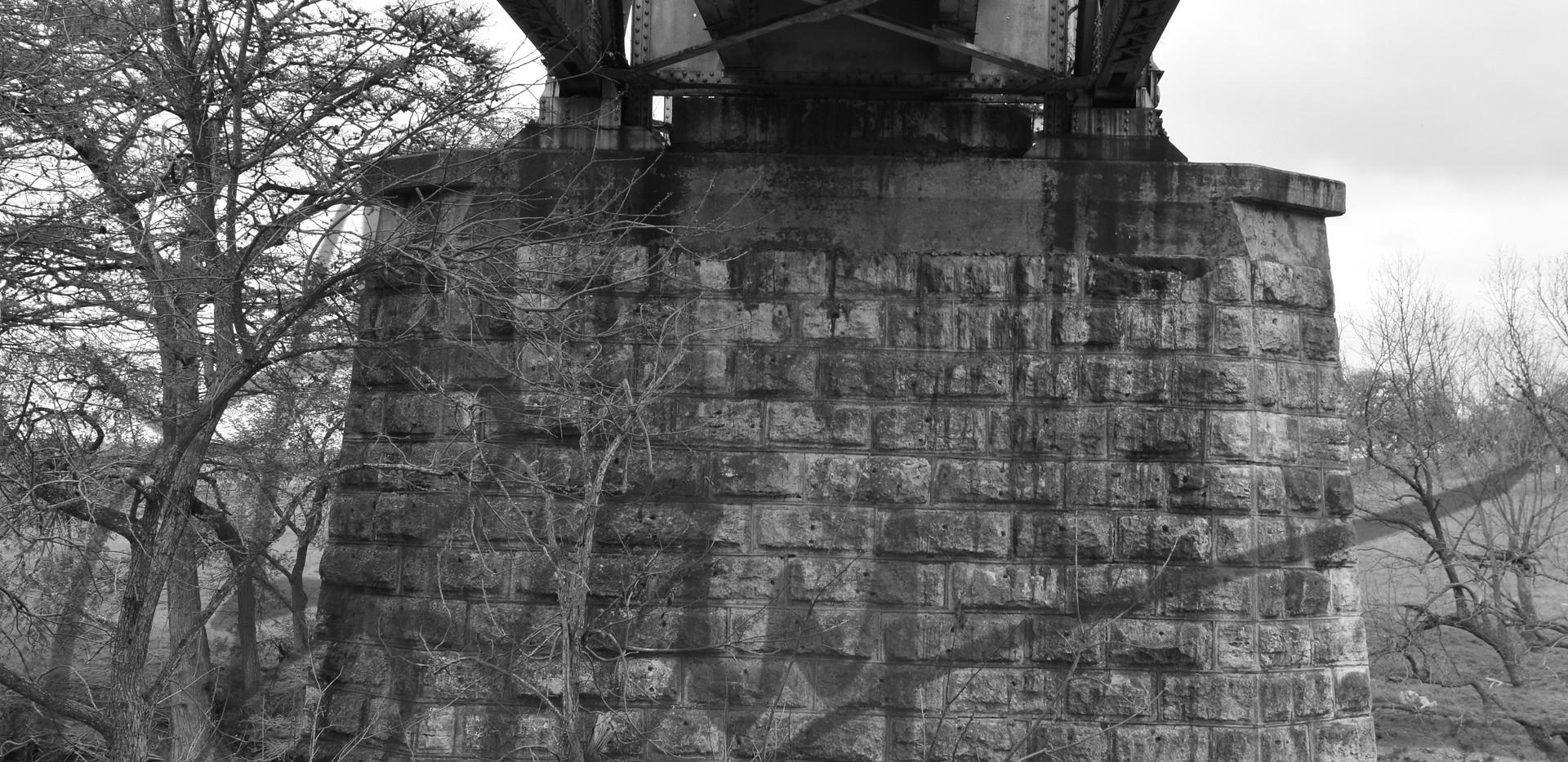 •Bridge Abutment, River Bend Rd.