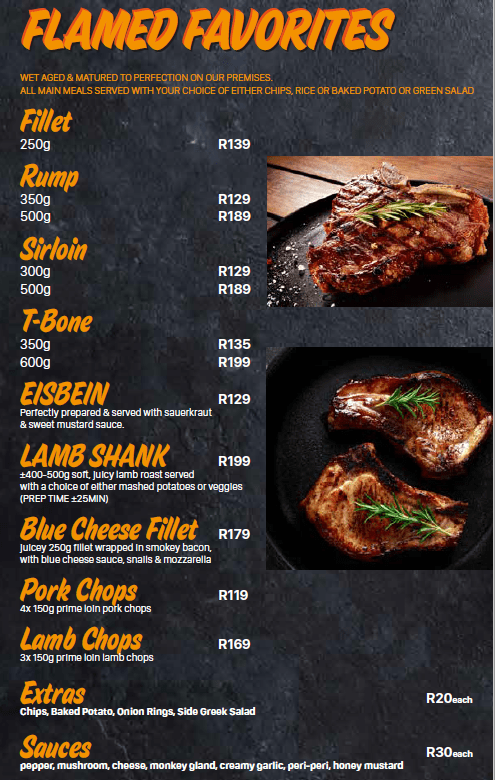 house of ribs flamed favourites menu 12