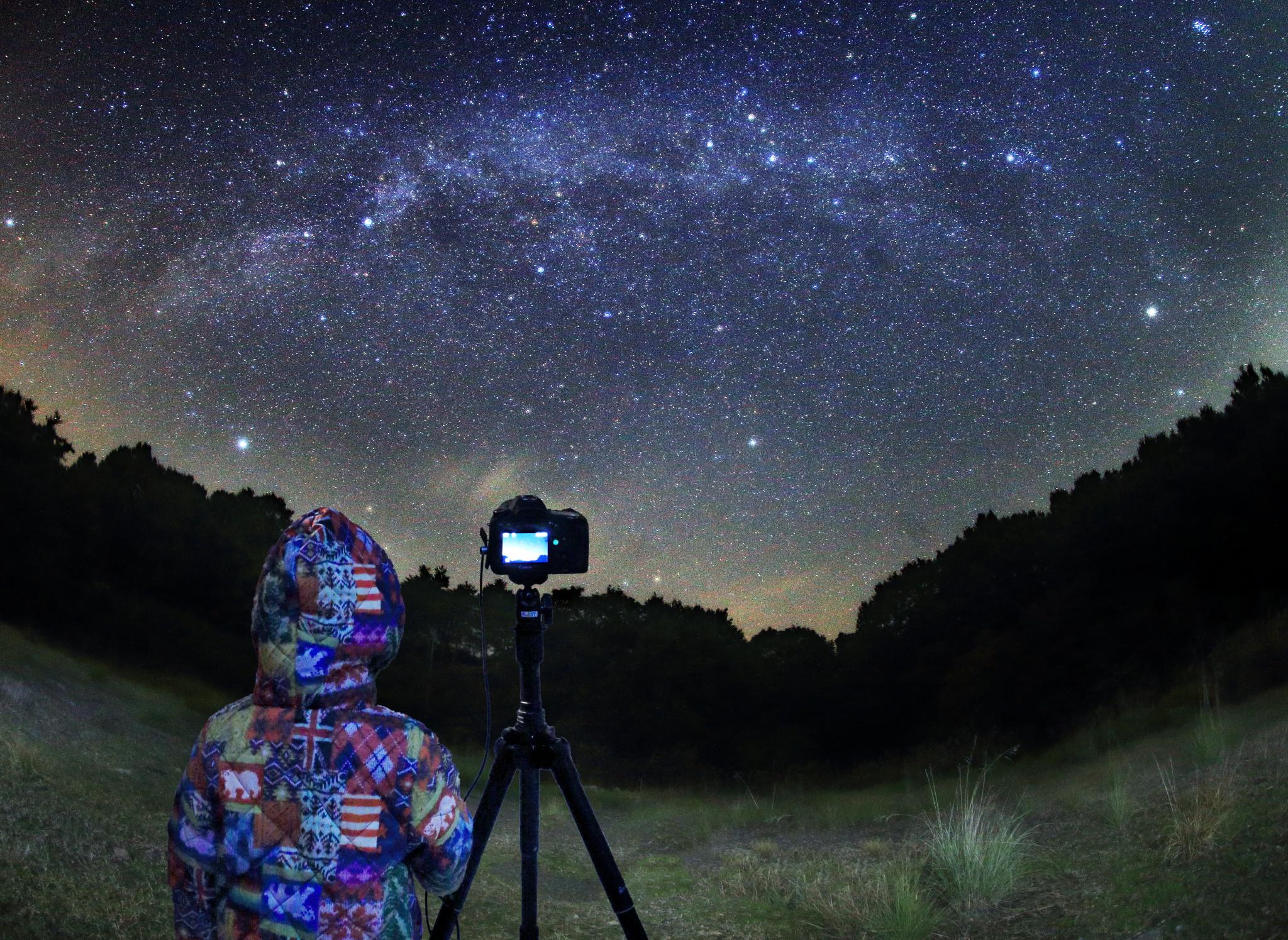 星景写真撮影中