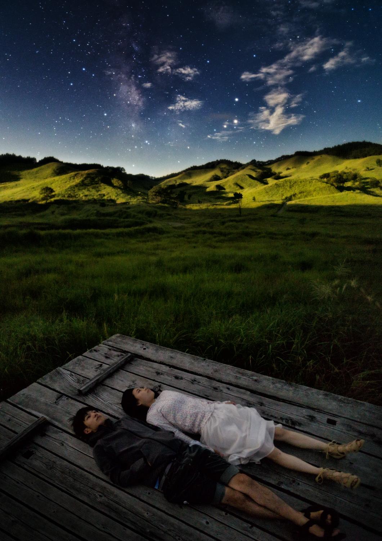 月夜の星観