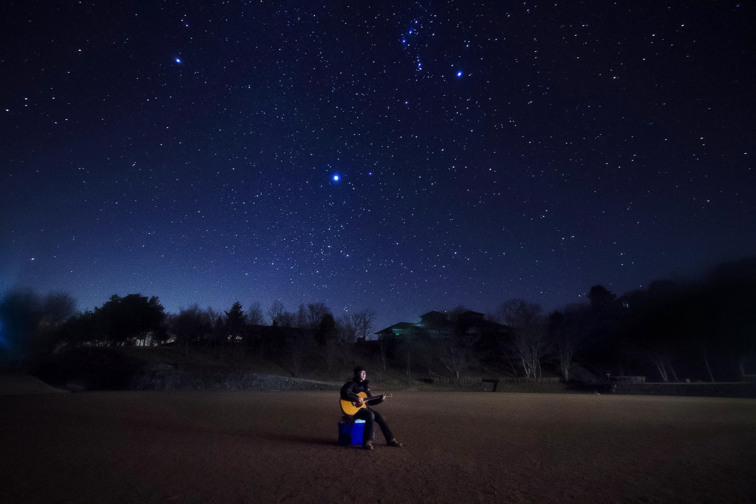 星空の下で、アルペジオ