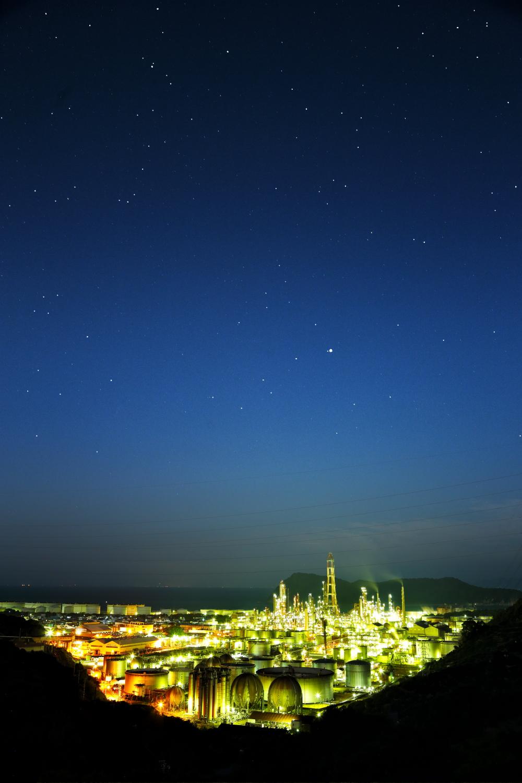 和歌山工場夜景と星