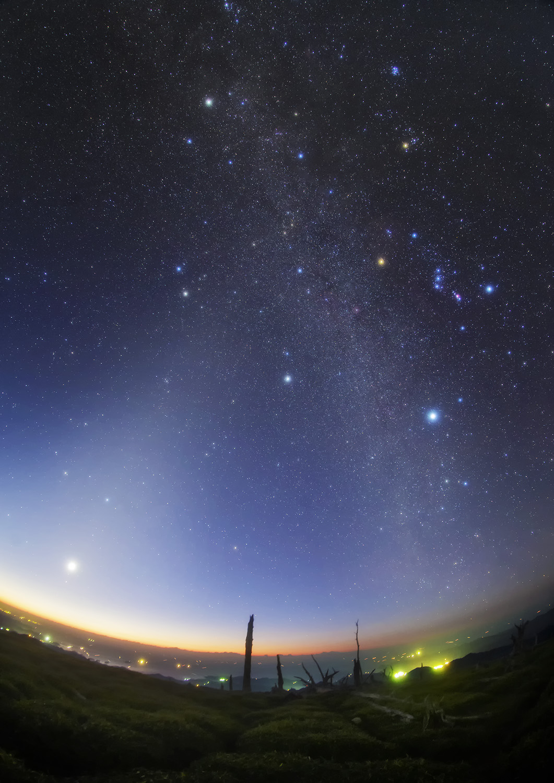 黄道光と冬の銀河