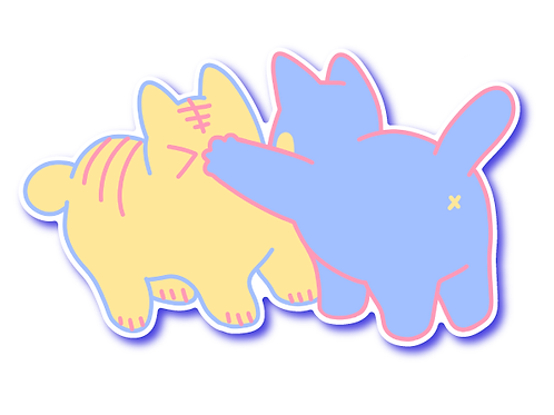 Cat Fight Sticker