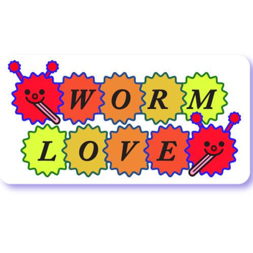 Worm Love Sticker