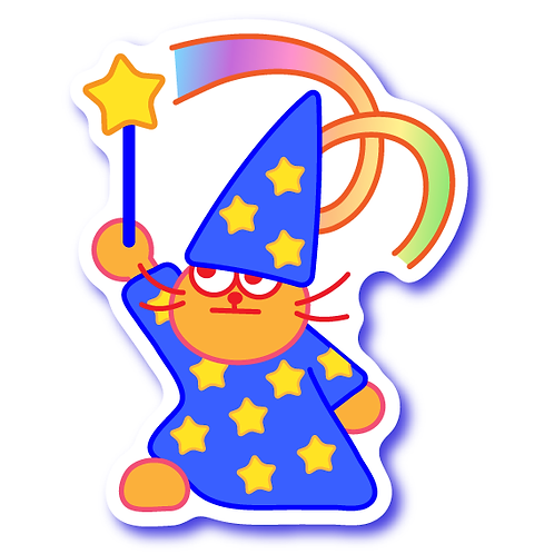 Wizard Cat Sticker